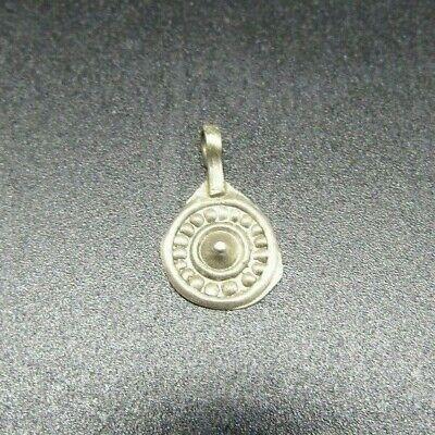 Superb Viking repousse silver pendant 10th century ad