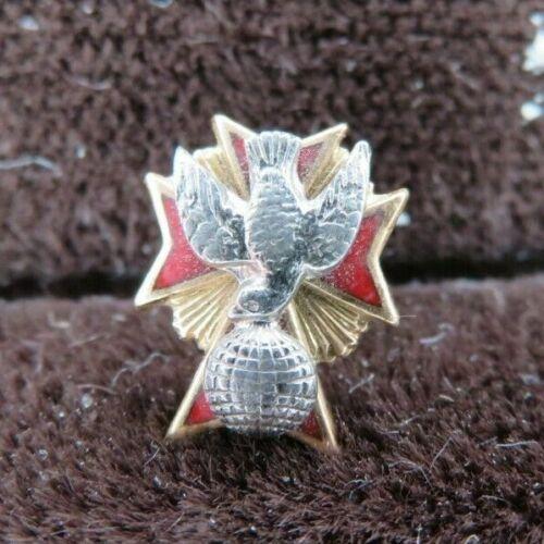 KofC Knights of Columbus Emblem Of The Patriotic Degree 4th Fourth Lapel Pin 14K