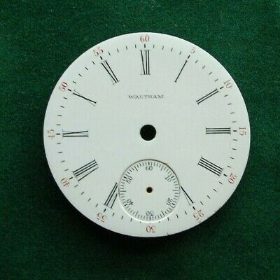 Waltham 18s Pocket Watch Face Dated 1902 Original Parts Watchmaking Tools