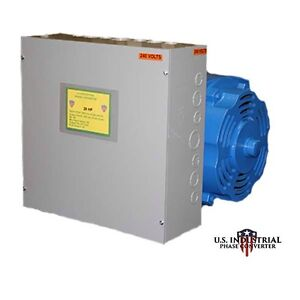 30 HP ROTARY PHASE CONVERTER NEW, INDOOR/OUTDOOR USE HEAVY DUTY, FREE SHIPPING!!