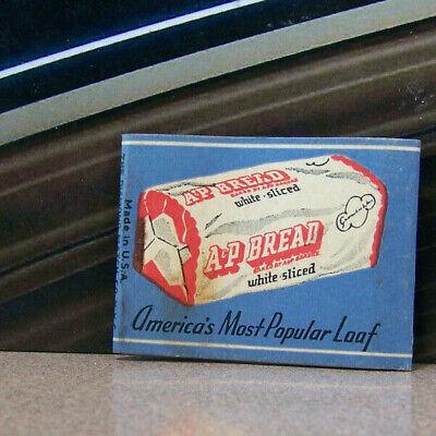 Vintage Matchbook Cover V5 A & P Bread Rye White Raisin Whole Wheat America's -