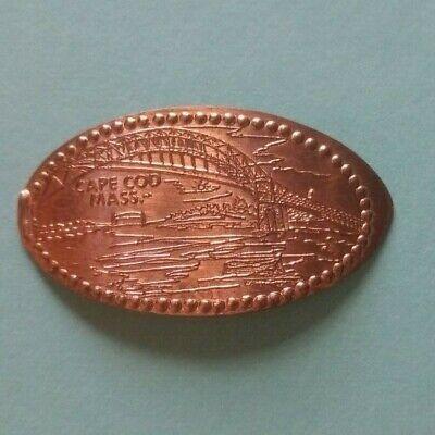 CAPE COD MASSACHUSETTS Bourne Bridge Elongated 1943 Canada Copper Penny Cape Cod Copper