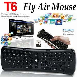 3-in-1 T6 Wireless Fly Air Mouse/Keyboard/Remote For SMART TVs