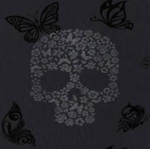 BLACK-CHARCOAL-GREY-MURIVA-SKULLS-FLOWER-BUTTERFLY-WALLPAPER-J21809