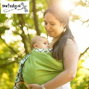 RING SLING BY SEWFUNKY AVOCADO GREEN