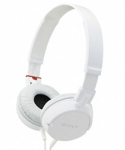 Sony-MDR-ZX100-WHI-Noise-Reducing-White-On-Ear-Stereo-Headphones