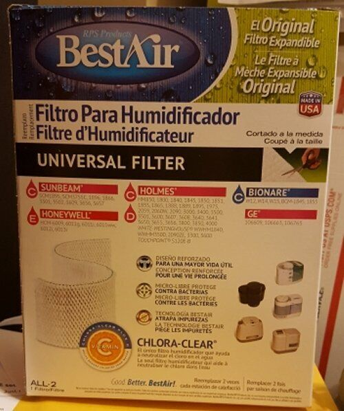 Best Air All-2 Humidifier Filter - Universal - Holmes HM850
