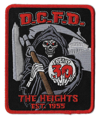 DCFD Engine 30 The Heights Reaper Skull NEW - Fire Patch