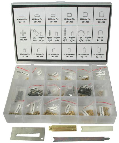 Schlage Rekey Kit 100 Pieces Pin Locksmith Tool Rekeying Set SR004 Free Shipping