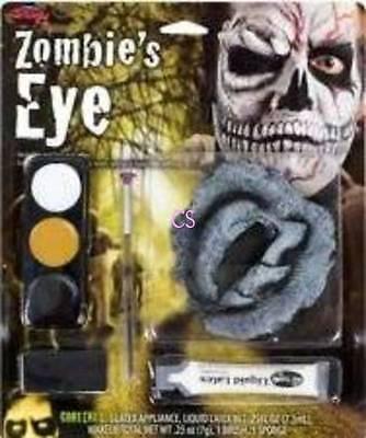 NIP-Zombie Monster Skull Latex Fake Skin Eye Halloween Quality Makeup Kit