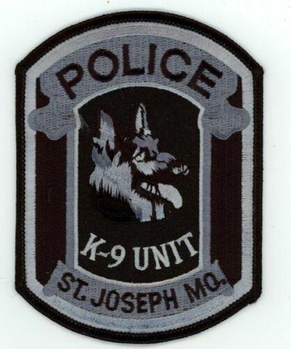 ST JOSEPH MISSOURI MO POLICE K-9 SUBDUED NICE PATCH SHERIFF