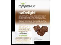 ISAGENIX IsaDelight™ Milk Chocolate with Sea Salt & Caramel Box 342g (30 packets x 11.4g)