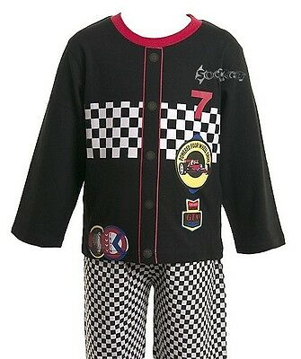 Boys Novelty Dress Up Car Racer Driver Long Pyjamas Ages 2-6 Years