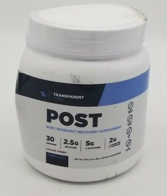 Transparent Labs Post Workout Recovery Supplement BLACK CHERRY *DAMAGED BOX*