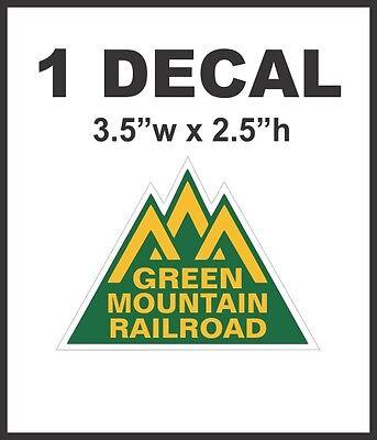 Train Mountain Railroad - Green Mountain Route Railroad Rail Road Decal Diorama Train - Never No Pixels!