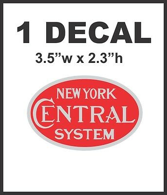 New York Rail System (New York Central System Railroad Rail Road Decal Lionel Train HO)