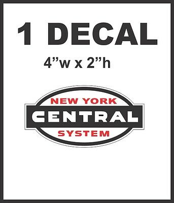 New York Rail System (New York Central System Railroad Rail Road Lines Company Decal Very Nice &)