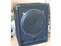 """15"""" Bass Cab / PA Sub Speaker - Twin Ports / Protective Grille"""