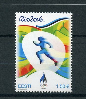 Estonia 2016 MNH Summer Olympic Games Rio 2016 1v Set Athletics Olympics Stamps