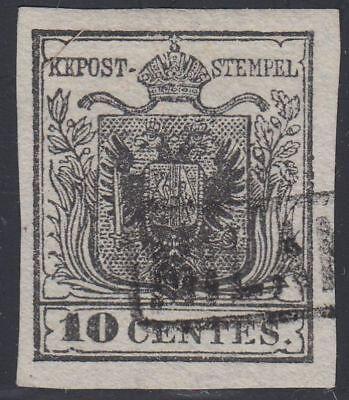 Lombardei Venetien 1850 Nr. 2 X Rahmenstempel MILANO gestempelt Befund BPP