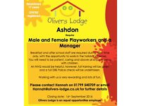 Male and Female Playworkers Required