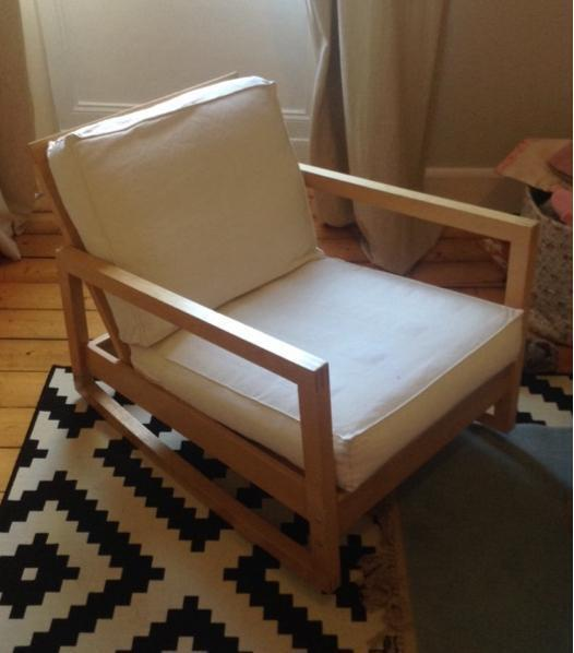 Ikea Solid Wood Rocking Chair In Langside Glasgow Gumtree