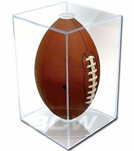 Pro Mold Full Size Football Cube Display Case UV Protection NFL Holder Super