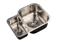 Brand New Kitchen Sink FRANKE Stainless Steel Double Reversible Side Bowl £120,BARGAIN! RRP196.00!