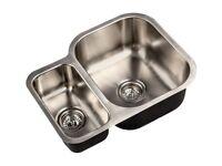 Brand New Kitchen Sink FRANKE Stainless Steel Double Reversible Side Bowl £125! BARGAIN! RRP196.00!