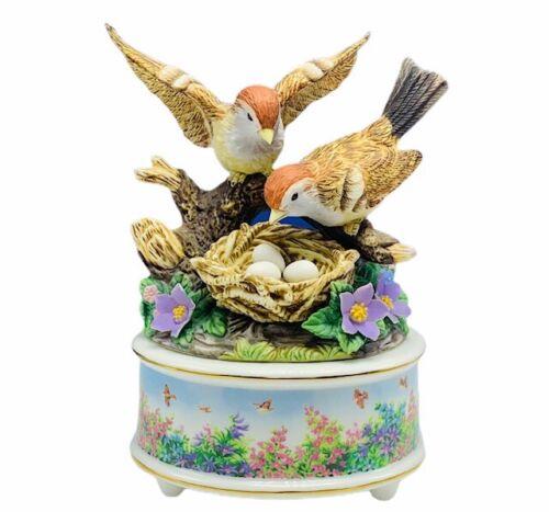 Sparrow music jewelry box figurine sculpture solomon 2:12 bible Jesus friend vtg