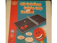 Folding table top tennis 4ft