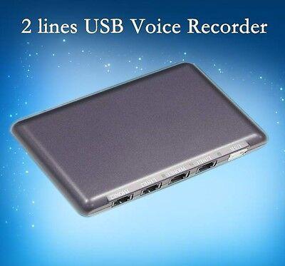 PhoneSPY 2 LINE USB COVERT TELEPHONE RECORDING SYSTEM