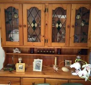 LEADLIGHT KITCHEN DRESSER, HANDMADE LEADLIGHT DOORS Beverley Park Kogarah Area Preview