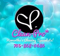 Allow me to clean your home! Spots available now!