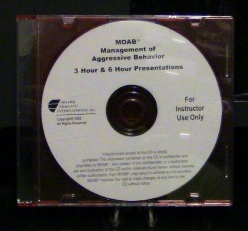 Management of Agressive Behavior 3 HR & 6 HR Presentations CD For Instructors