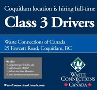 Garbage Truck Drivers (Commercial Waste) - $31.82/hr