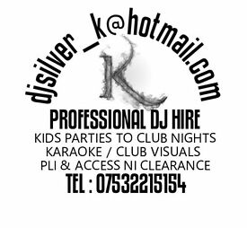 Professional Dj Hire with PLI & Access NI. Childrens parties to Club nights