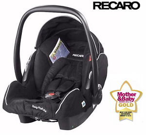 Recaro Young Profi Plus Baby Infant Car Seat Carrier Black 0 - 15 Months/ 13kgs