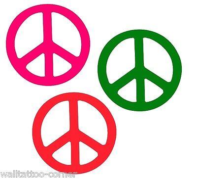 ieden Zeichen Love 60er 70er Wandtattoo Autoaufkleber NEU (60er Peace-zeichen)
