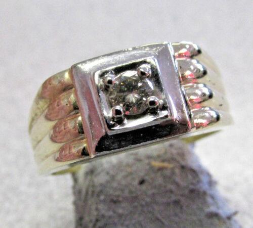 Diamond Mens Estate Ring Size 10     No Reserve