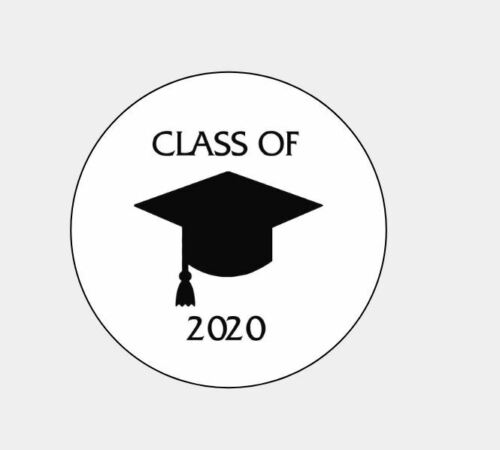 """Personalized Class of 2020 Graduation 1"""" Round Envelope Seals Custom Labels"""