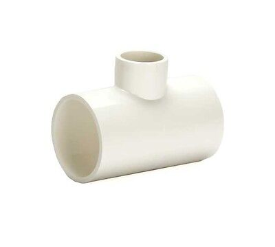 PVC Reducing Tee Pipe Fitting - 3/4-Inch to