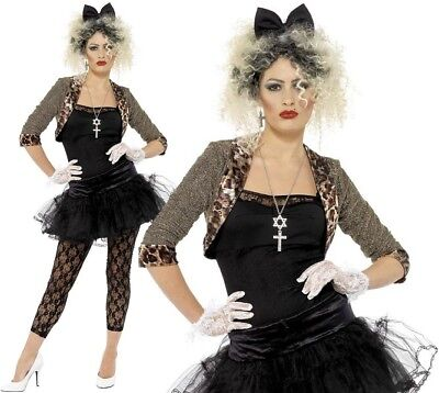 80s 1980s Pop Wild Child Music Fancy Dress Costume Madonna S - XXL by Smiffys - 80s Music Costumes