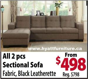 brand new Elegant Fabric Sectional Sofa Set only $498
