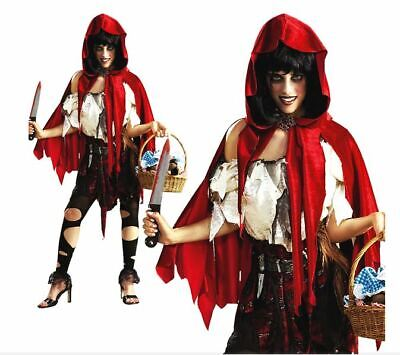 Halloween Little Red Riding Hood Scary (LIL' DEAD RIDING HOOD FANCY DRESS COSTUME HALLOWEEN - LARGE 14 -)