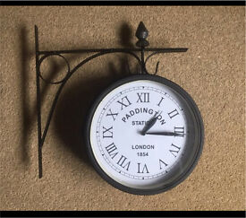 Beautiful double sided station clock