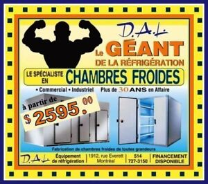 **CHAMBRES FROIDES * COMMERCIALES * INDUSTRIELLES*