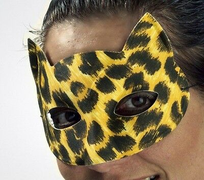 Leopard Cat Mask Carnival Marde Gras Costume Face Woman Womens Cheetah - Halloween Cat Face Costume