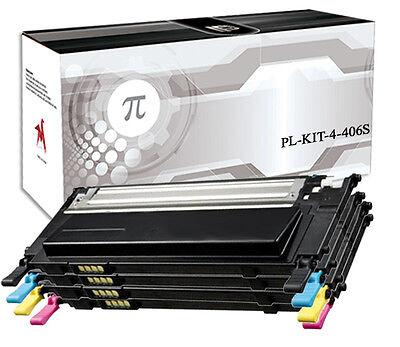 4 Toner Per Samsung CLT-406S CLP360 CLX 3300 CLP365W Xpress C410 CLX3305 C460FW