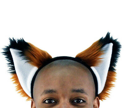 PAWSTAR Fox Ear Headband - Furry Costume Best Pet Play Rust Brown copper[RU]3060 - Fox Ear Costume